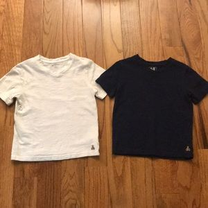 Two size 4 Baby Gap v-neck tees